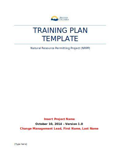 editable training action plan template