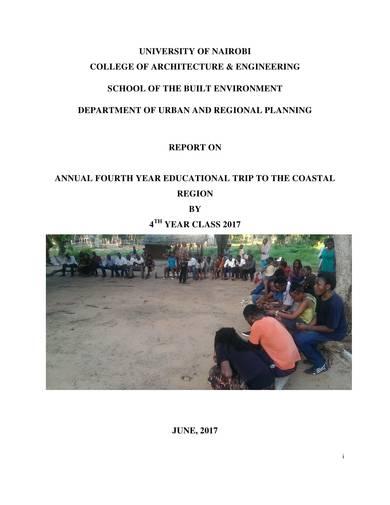 education trip report sample