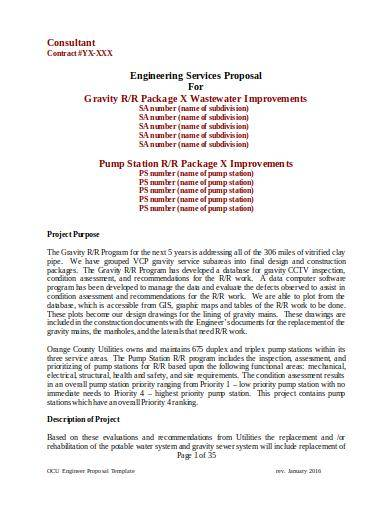 engineering services proposal template