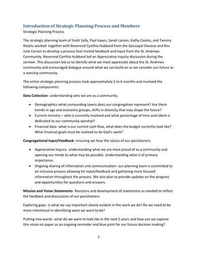 episcopal church strategic plan sample