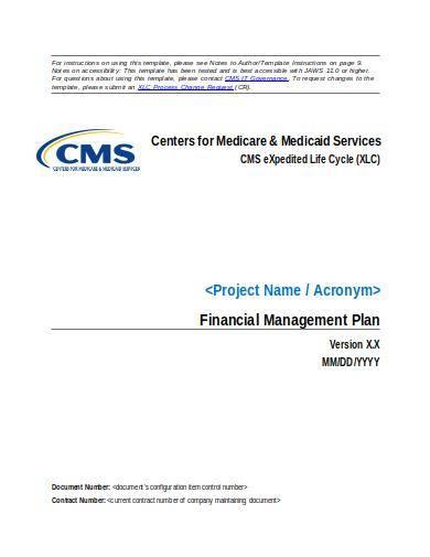financial management plan sample