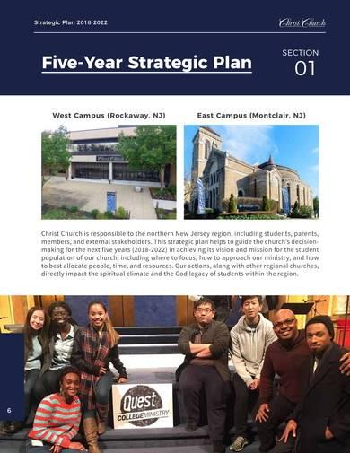 five year church strategic plan sample
