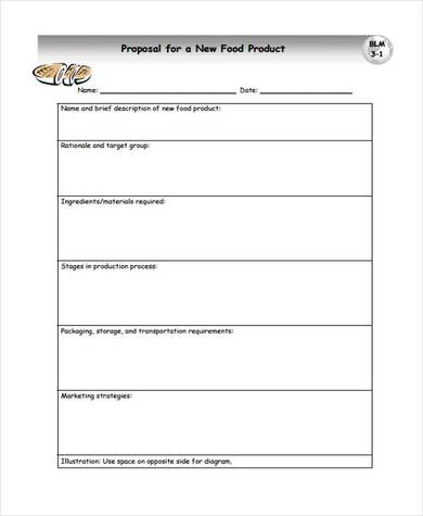 food product sales proposal template