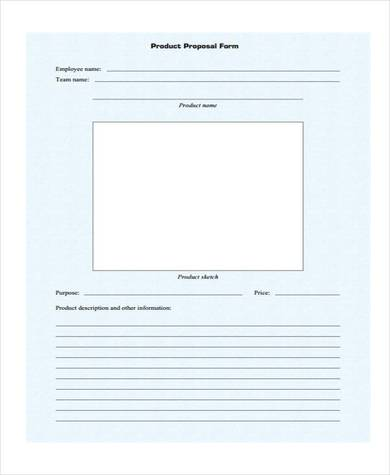 free product sales proposal form