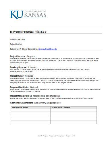 information technology project proposal sample