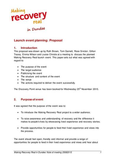 launch event planning proposal format 1