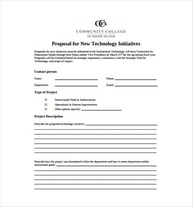 new technology proposal template 1
