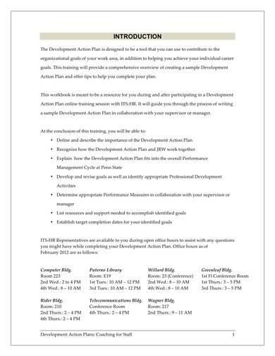online training action plan sample