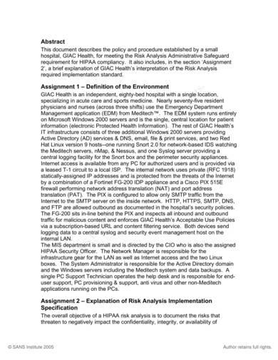 printable hipaa risk analysis sample