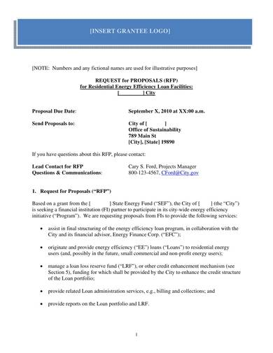 sample business loan request for proposal template 01