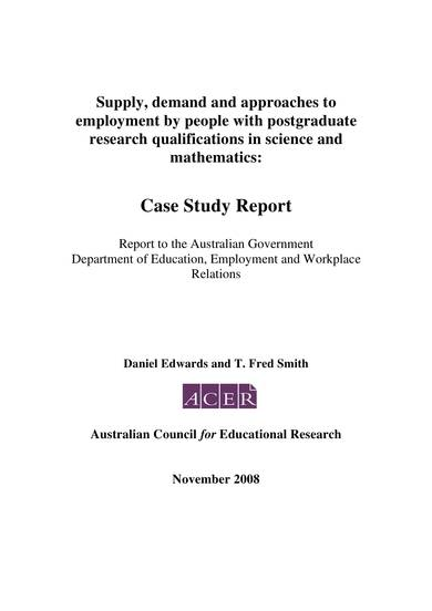 sample case study analysis report 01