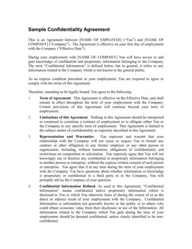 Free 9 Customer Confidentiality Agreement Samples In Pdf Word