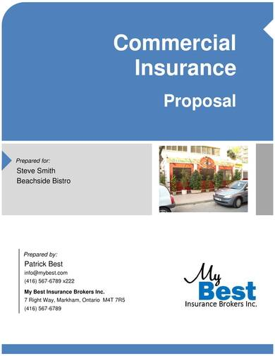 sample commerial insurance proposal