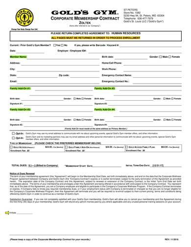 sample corporate membership contract