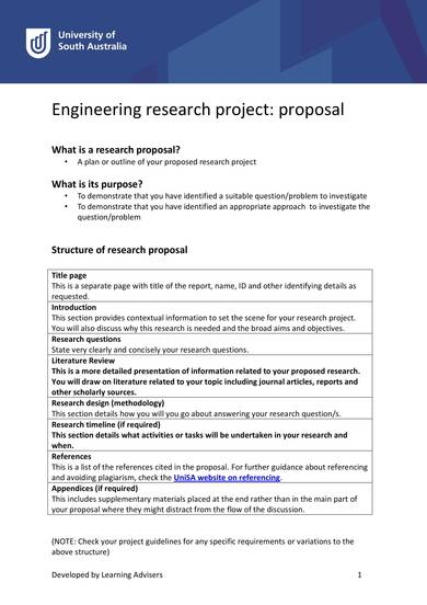 sample engineering research project proposal 1