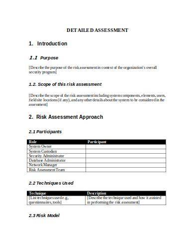 sample it security risk assessment template