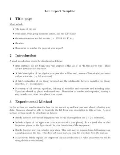 sample lab report template 1