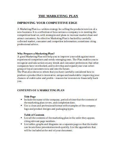 sample marketing plan template