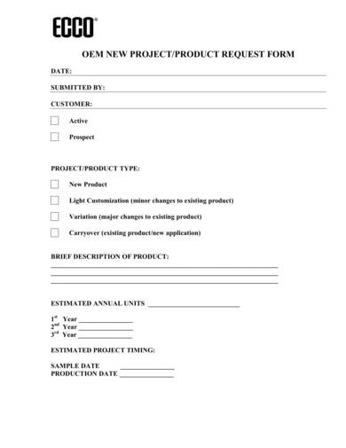 sample oem new product purchase forms