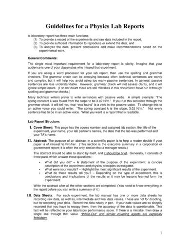 sample physics lab report and guidelines 01