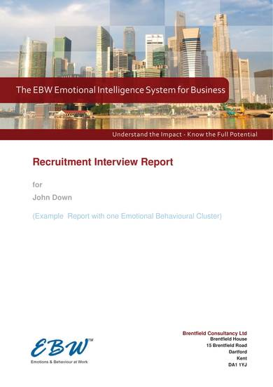 sample recruitment interview report 1