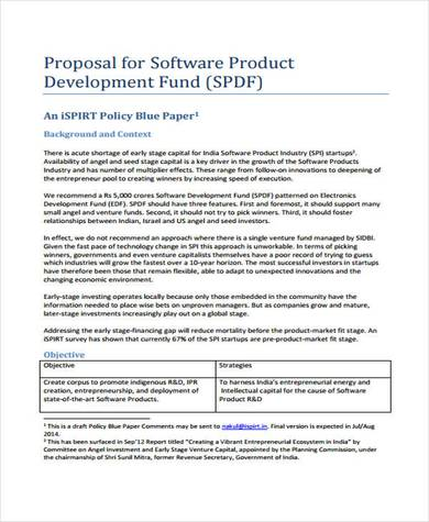 sample software product proposal template