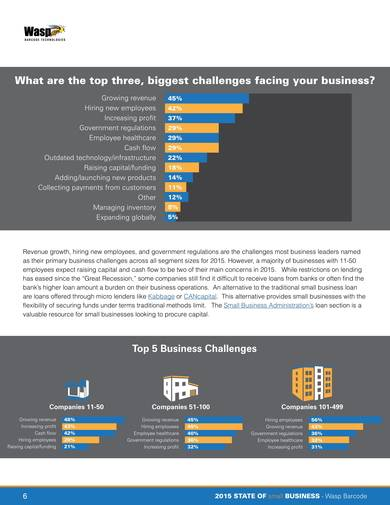 sample state of small business report
