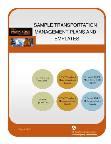 sample transaportation management plans and templates