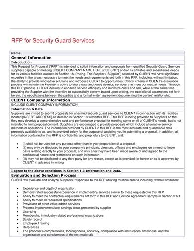 Free 9  Security Guard Contract Samples In Pdf