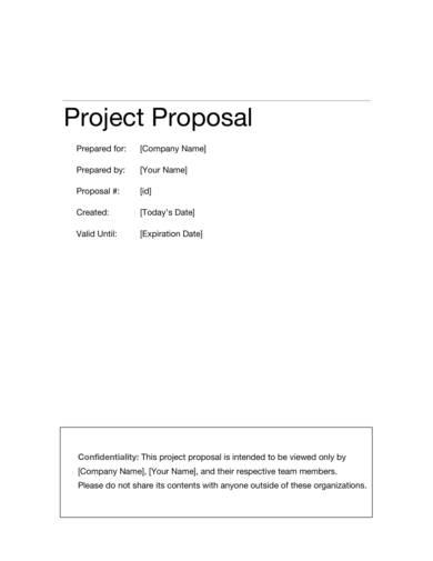 simple business project proposal template 1