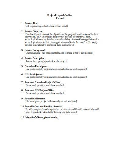 simple project proposal outline sample