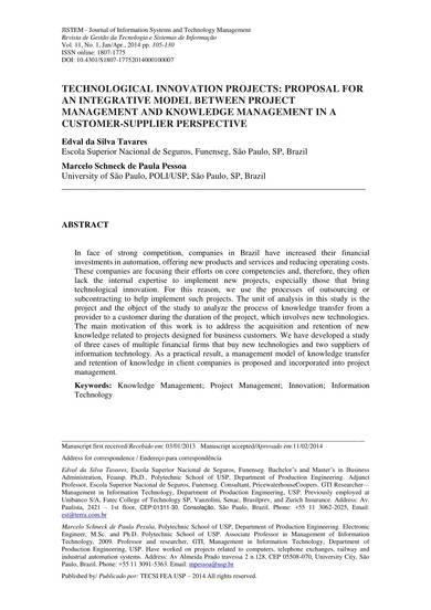technological innovation proposal sample