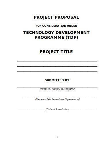 technology development program proposal sample
