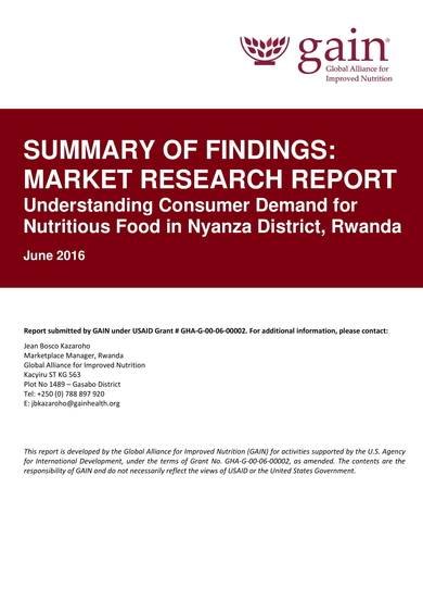 usaid summary market research report sample 01