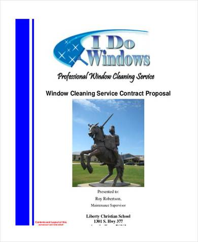 window cleaning services proposal contract sample
