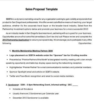 advertising sales proposal sample