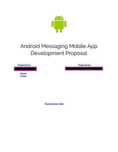 android messaging mobile app development proposal
