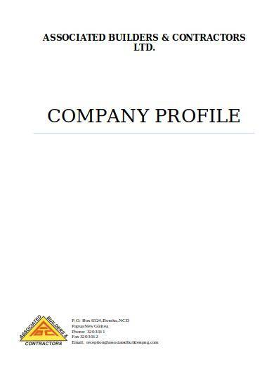 associated builders contractors company profile sample