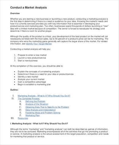 basic market analysis sample