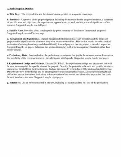 basic proposal outline sample