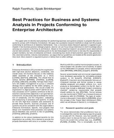 best practices for business and systems analysis