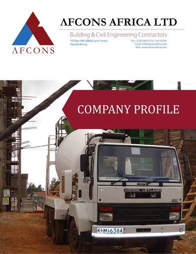 building and civil engineering company profile sample