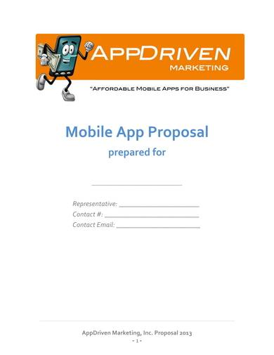 business mobile app poposal sample