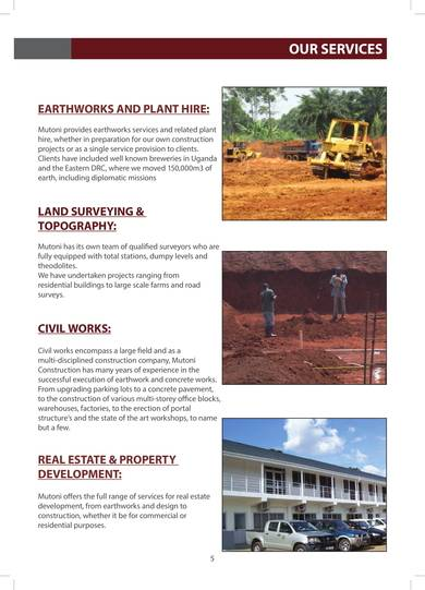 civil engineering and construction company profile sample
