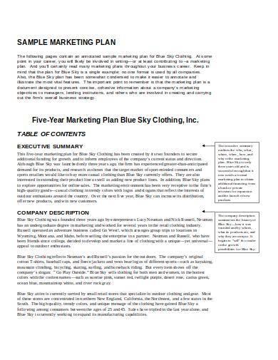 clothing business marketing plan sample