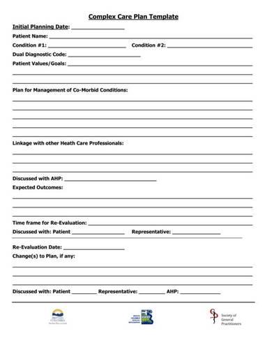 complex care plan template