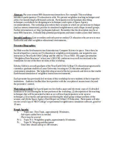 computer training workshop proposal sample