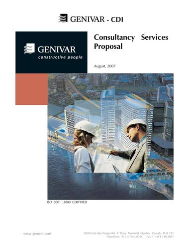 consultancy services proposal sample