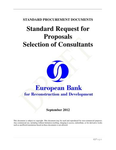 consultant selection standard rfp sample