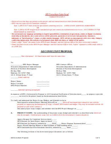 consultant services proposal template